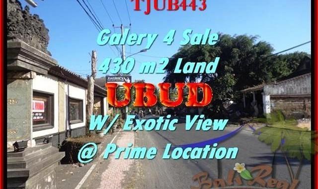 JUAL TANAH MURAH di UBUD BALI 4,3 Are Galery / Shop