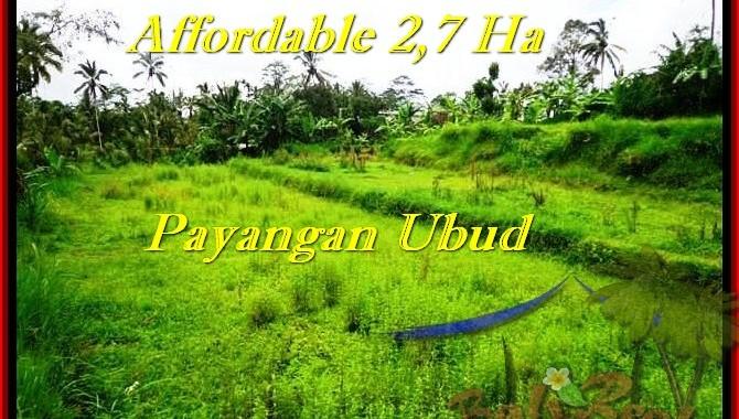TANAH MURAH di UBUD 270 Are View Kebun dan tebing, sungai
