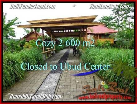 JUAL TANAH MURAH di UBUD BALI 2,600 m2 di Lingkungan Villa