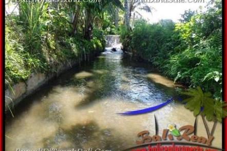 TANAH di UBUD BALI DIJUAL 1,000 m2 View Sawah dan sungai kecil link Villa
