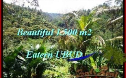 TANAH JUAL MURAH UBUD 1,500 m2 View Tebing dan sungai besar