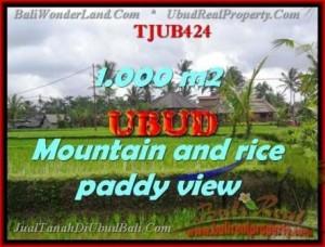 JUAL TANAH MURAH di UBUD BALI 10 Are view sawah gunung dan tebing
