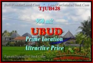 DIJUAL TANAH MURAH di UBUD 950 m2 di Sentral Ubud