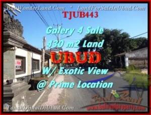 DIJUAL TANAH MURAH di UBUD 4,3 Are di Sentral Ubud