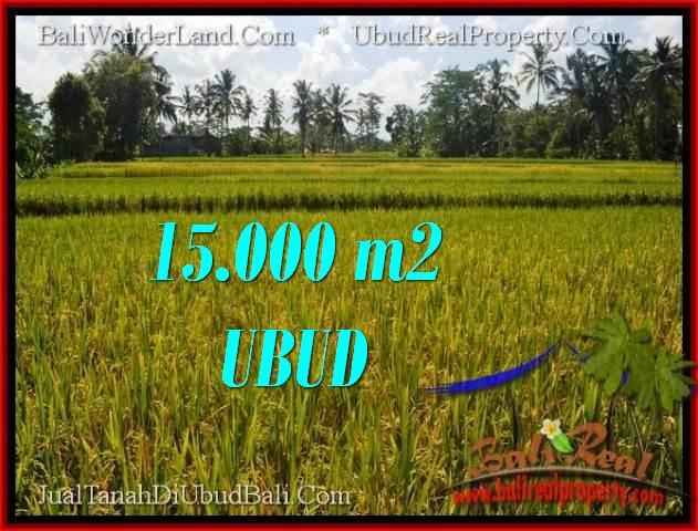 JUAL MURAH TANAH di UBUD 150 Are View Sawah dan sungai lingkungan Villa