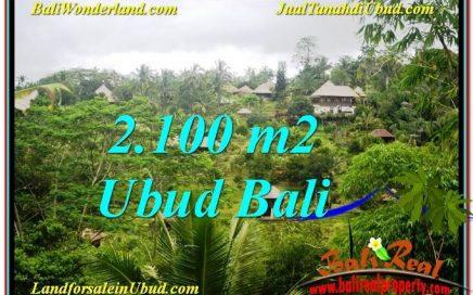 TANAH MURAH di UBUD BALI 2,100 m2 View Tebing dan Sungai