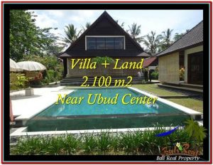 JUAL MURAH TANAH di UBUD BALI 2,190 m2  View sawah, kebun, link Villa