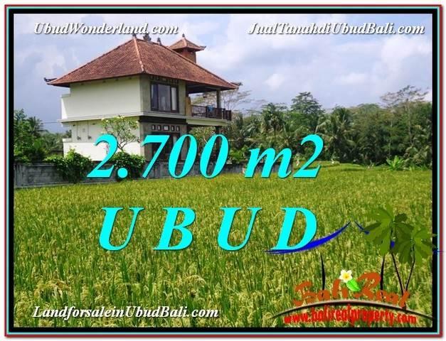 JUAL TANAH MURAH di UBUD Untuk INVESTASI TJUB595