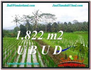 TANAH di UBUD DIJUAL 1,822 m2 di Ubud Payangan