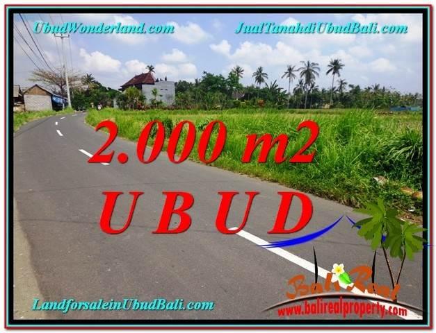 JUAL TANAH MURAH di UBUD BALI 2,000 m2 View Sawah link Villa