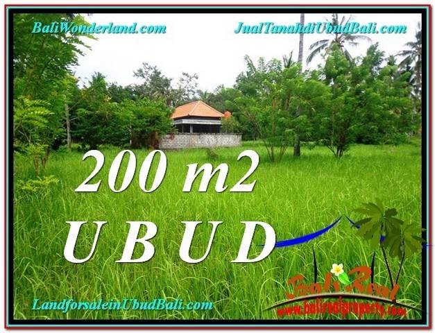 TANAH di UBUD JUAL 200 m2  View Kebun Link Villa