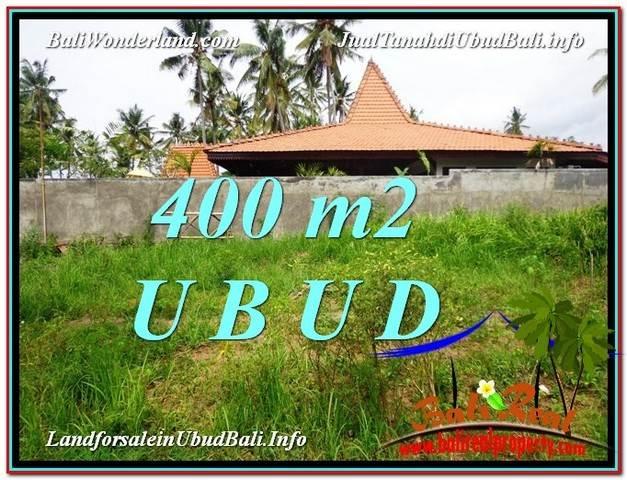TANAH MURAH JUAL di UBUD BALI 400 m2  View Kebun Link Villa