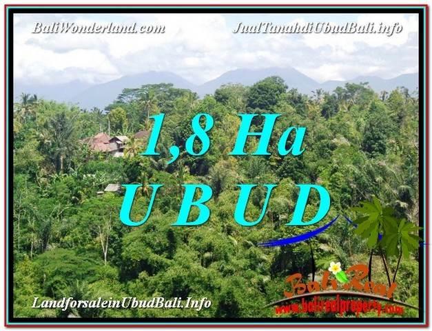TANAH di UBUD DIJUAL MURAH 18,000 m2 di Ubud Tegalalang