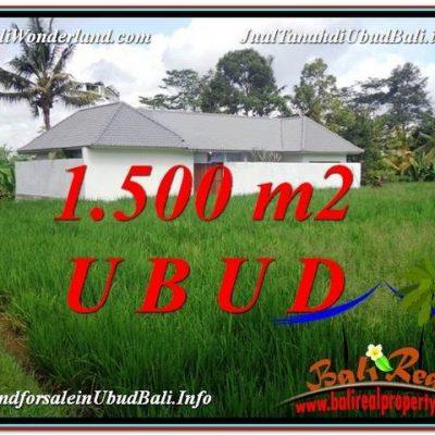 TANAH DIJUAL MURAH di UBUD 1,500 m2 di Sentral Ubud