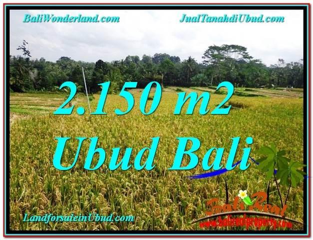 JUAL TANAH di UBUD Untuk INVESTASI TJUB606