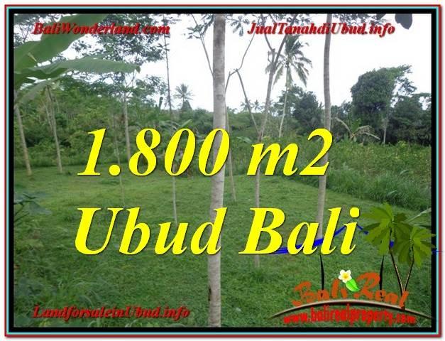 JUAL TANAH MURAH di UBUD 1,800 m2  View Tebing dan kebun