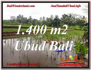 JUAL TANAH MURAH di UBUD 1,400 m2 View Sawah