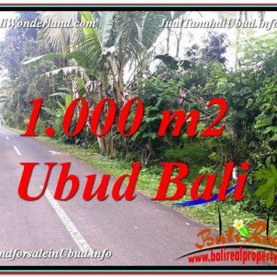 TANAH JUAL MURAH  UBUD 1,000 m2  View Kebun dan Pangkung