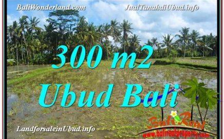 JUAL TANAH di UBUD BALI 300 m2 View Sawah lingkungan Villa