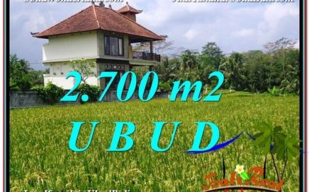 JUAL TANAH di UBUD BALI 2,700 m2 di Ubud Tegalalang