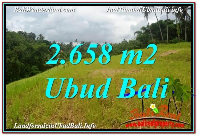 TANAH di UBUD DIJUAL MURAH 2,658 m2 di Sentral / Ubud Center