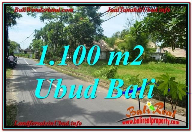 TANAH MURAH JUAL UBUD 1,100 m2 View Sawah, Sungai Kecil, Link. Villa