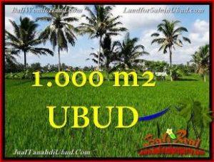 TANAH MURAH di UBUD JUAL 3,400 m2 View Sawah link Villa