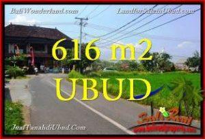 JUAL TANAH MURAH di UBUD BALI 616 m2 View Sawah link Villa