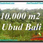 JUAL TANAH MURAH di UBUD 10,500 m2 VIEW SUNGAI DAN TEBING