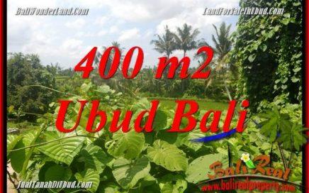 Tanah Murah jual Ubud 400 m2 View sungai dan sawah