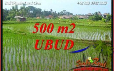 JUAL Tanah di Ubud Bali 500 m2 View sawah lingk. Villa