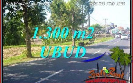 JUAL Tanah di Ubud 1,300 m2 View Linkungan Restorant