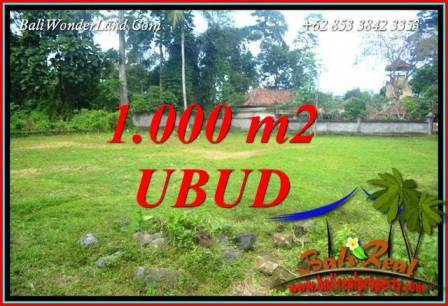 JUAL Murah Tanah di Ubud Bali 1,000 m2  View Lingkungan Villa