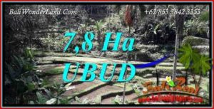 Tanah Murah di Ubud Bali Dijual 78,000 m2 View sawah, tebing dan sungai