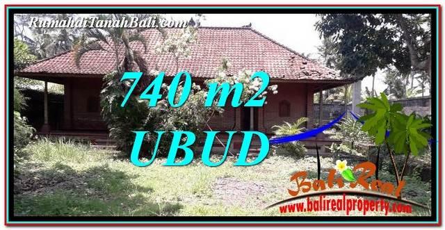 TANAH MURAH JUAL UBUD 740 m2 View Sawah