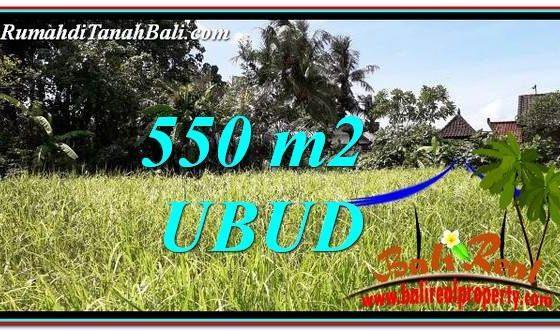 TANAH MURAH di UBUD JUAL 550 m2 View kebun link Villa