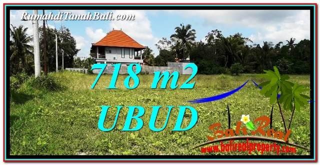 JUAL TANAH MURAH di UBUD BALI 718 m2  View Sawah link Villa