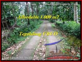TANAH DIJUAL di UBUD BALI 1,000 m2 di Ubud Tegalalang