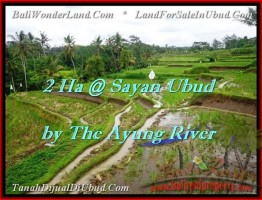 SOLD !! TANAH MURAH tepi sungai Ayung di Sayan UBUD TJUB473