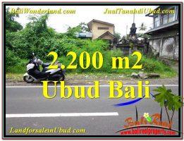 JUAL TANAH MURAH di UBUD 2,200 m2 di Sentral Ubud