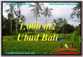 JUAL TANAH di UBUD BALI 1,000 m2  View  Sawah