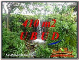 TANAH MURAH di UBUD BALI 410 m2  View Sawah dan Sungai