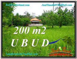 JUAL TANAH MURAH di UBUD BALI 200 m2  View Kebun Link Villa