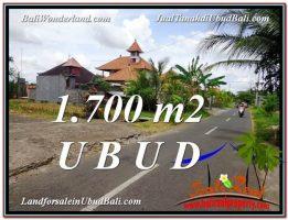 DIJUAL TANAH di UBUD BALI 1,700 m2 di Sentral Ubud
