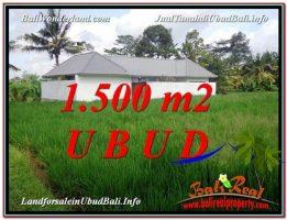 TANAH di UBUD DIJUAL 1,500 m2 di Sentral Ubud