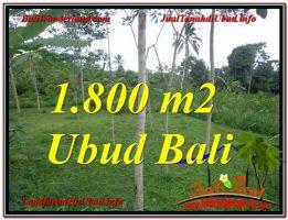TANAH di UBUD JUAL 1,800 m2  View Tebing dan kebun