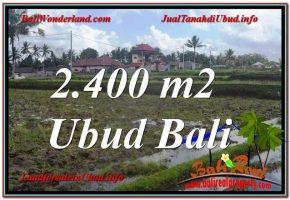 JUAL TANAH di UBUD BALI 2,400 m2  View Sawah lingkungan Villa