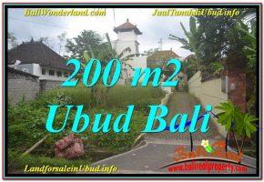 JUAL TANAH MURAH di UBUD BALI 200 m2  Lingkungan Villa