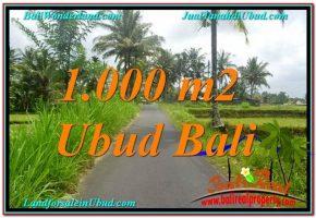 TANAH di UBUD DIJUAL MURAH 10 Are View Sawah, Link. Villa