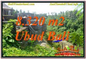 TANAH MURAH JUAL di UBUD BALI 8,320 m2  View Sungai, Link. Villa